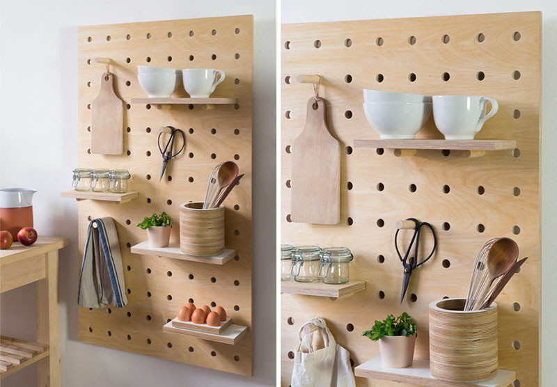 Badezimmer Interior Design Boards 9 Ideas For Using Pegboard And Dowels To Create Open