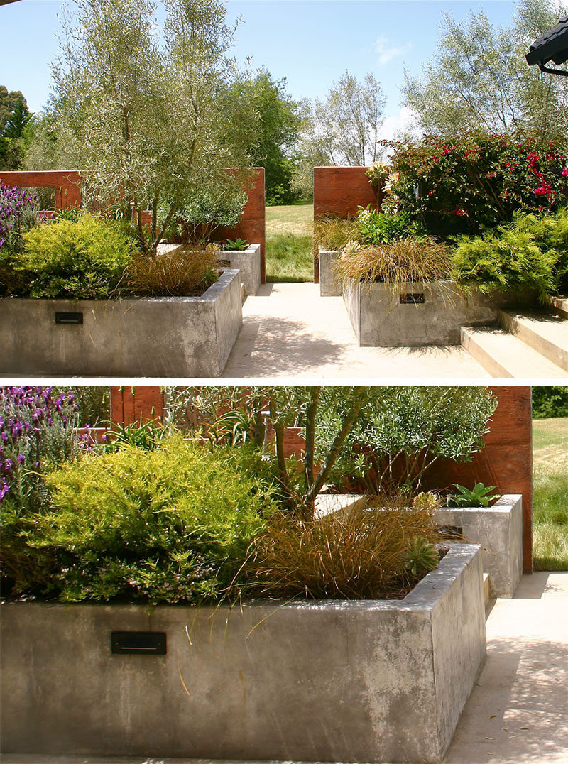 Hochbeet Modern 10 Excellent Examples Of Built-in Concrete Planters