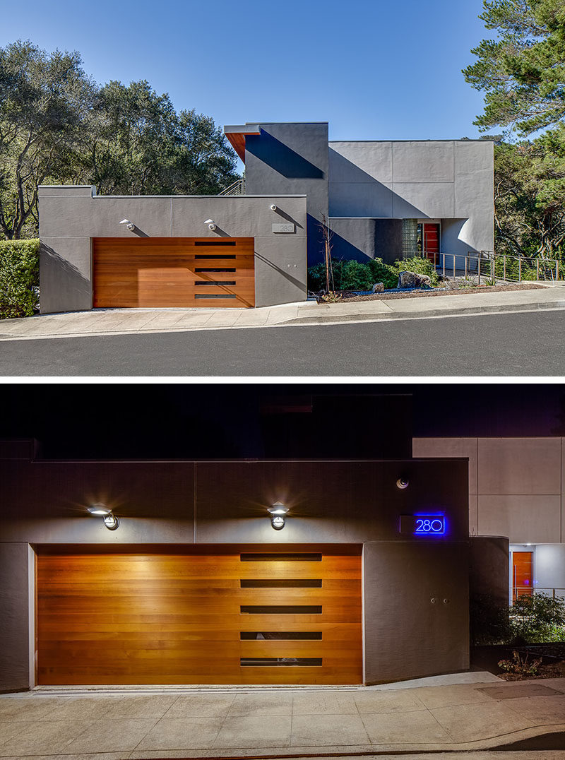 Garage And Front Doors That Match 18 Inspirational Examples Of Modern Garage Doors Contemporist