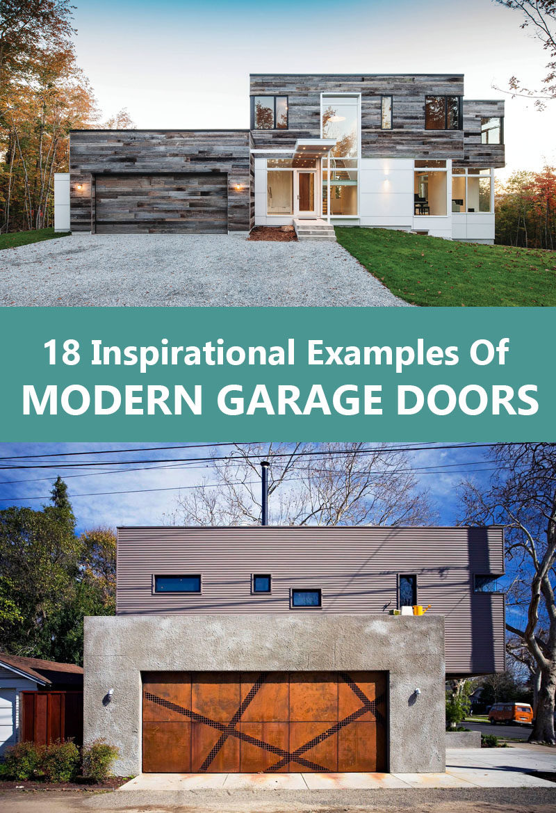 Garage Apartment Example 18 Inspirational Examples Of Modern Garage Doors Contemporist