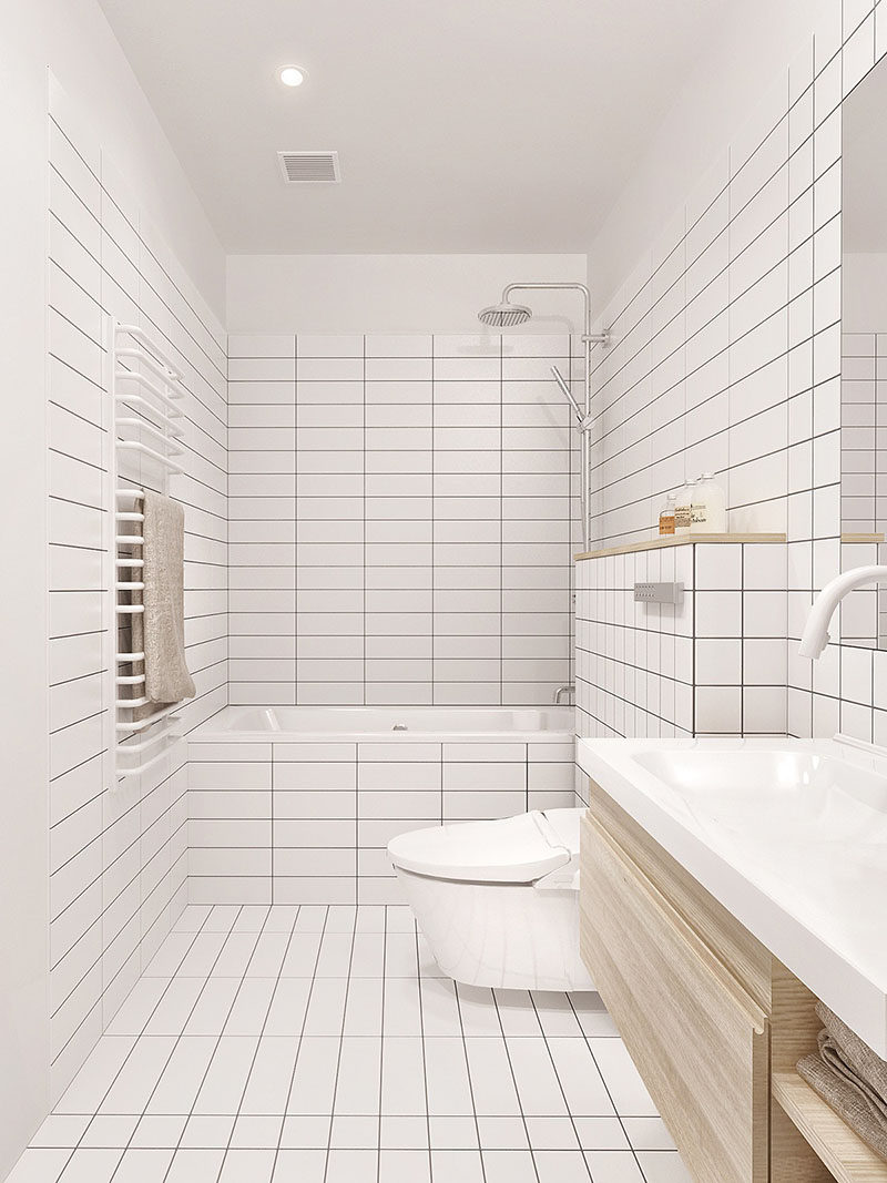 Subway Tile With Dark Grout 8 Examples Of Tile Flooring With Geometric Patterns