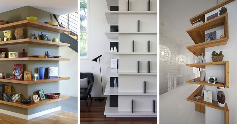 Meuble Tv En Bois Moderne Shelving Design Idea - Shelves That Wrap Around Corners