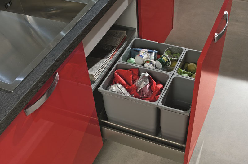 Dishwasher Cabinet Kitchen Design Idea - Hide Pull Out Trash Bins In Your