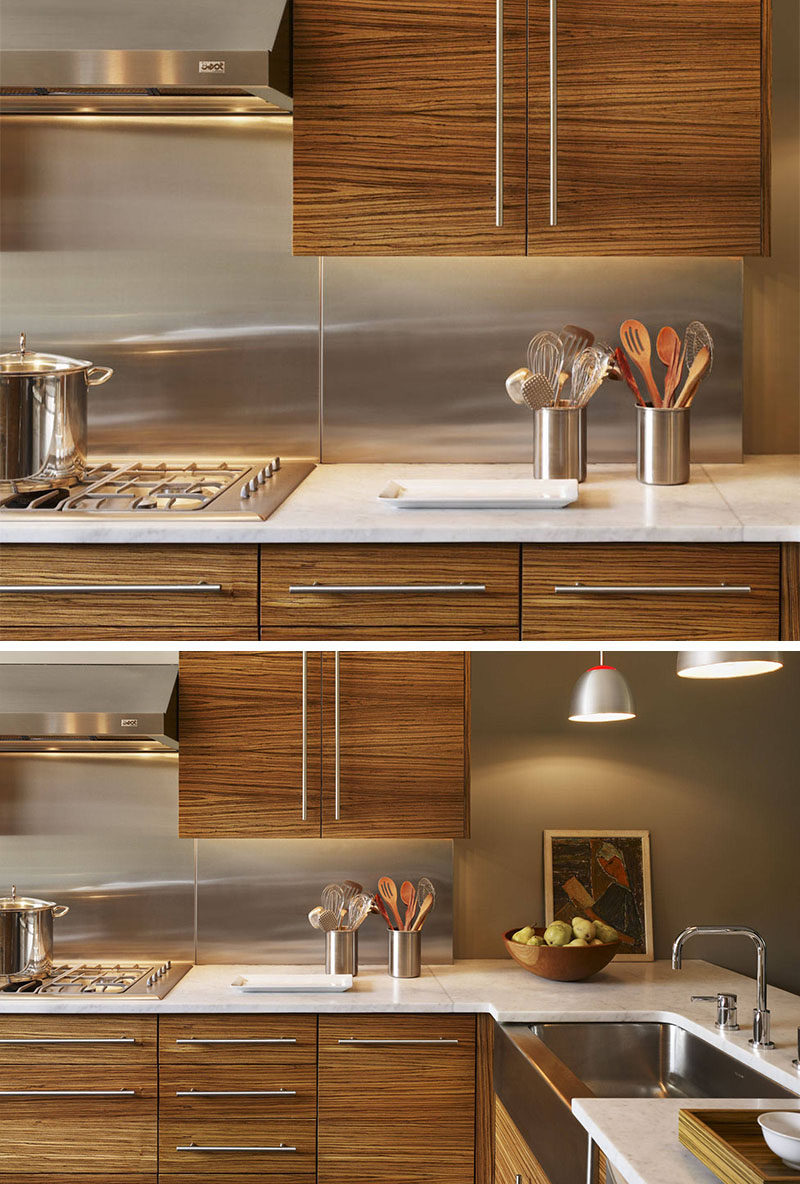 Installing Stainless Steel Countertops Kitchen Design Idea Install A Stainless Steel Backsplash For A