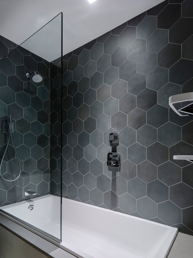 Washroom Tiles Bathroom Tile Ideas Grey Hexagon Tiles Contemporist