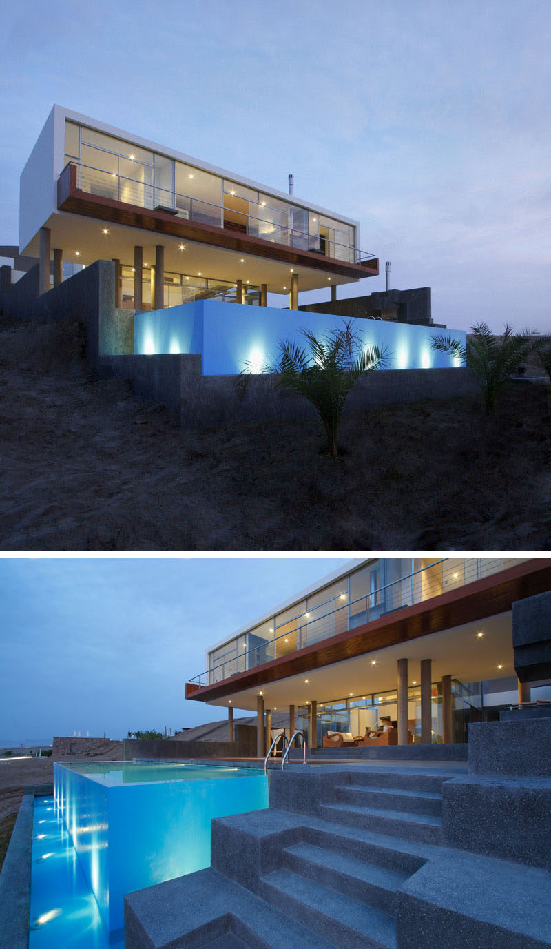 Stunning Furniture Modern Beach House Front Angle 47