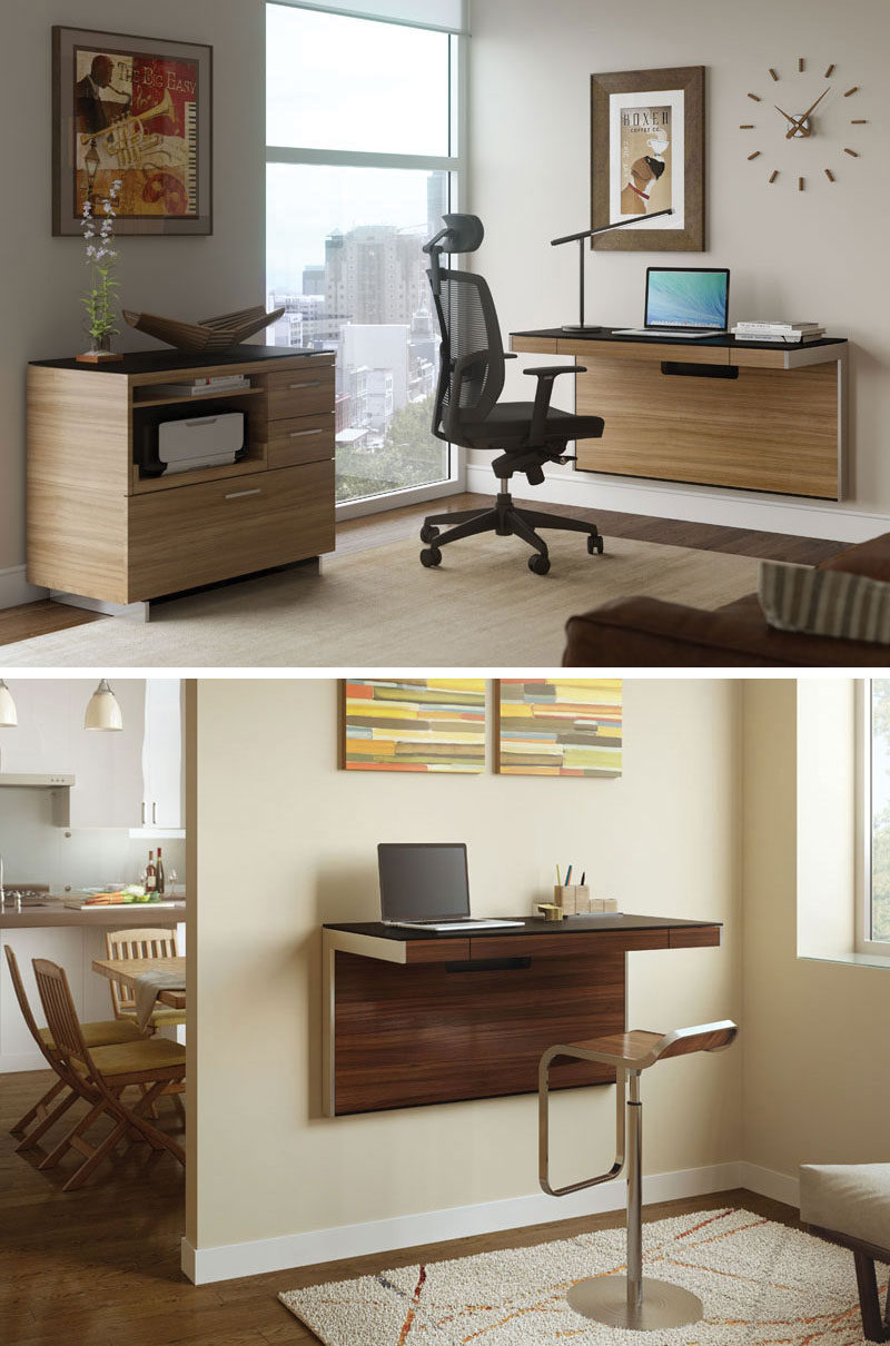 Wall Mounted Desks For Small Spaces 16 Wall Desk Ideas That Are Great For Small Spaces Contemporist