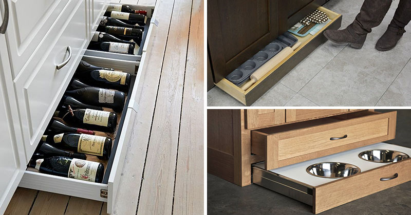 Toe Kick Drawer Kitchen Design Idea - Include Toe Kick Drawers In Your