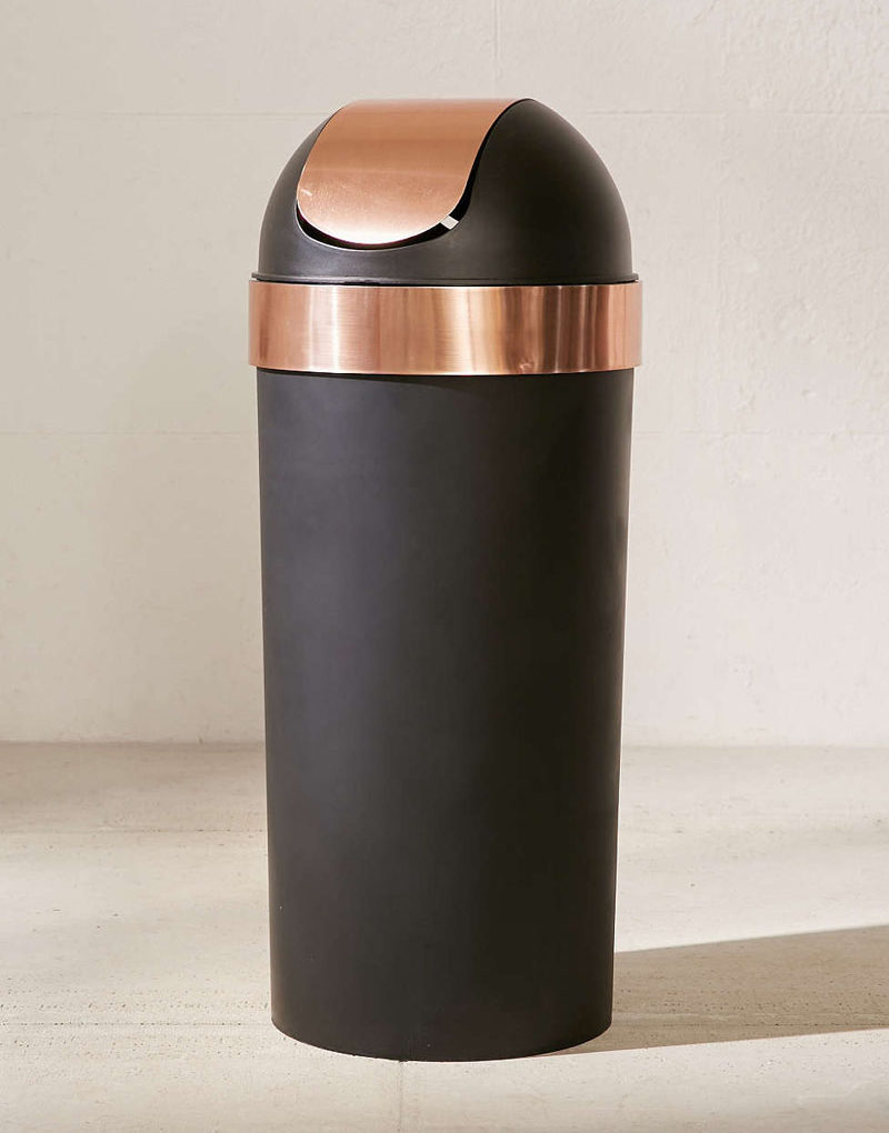 Copper Trash Can With Lid Kitchen Decor Ideas 12 Ways To Add Copper To Your Kitchen
