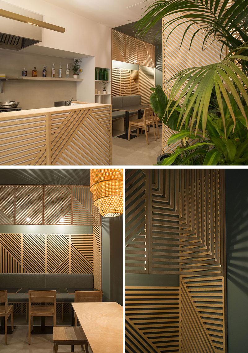 Wall Decor Wooden Wall Decor Idea This Restaurant Covered Its Walls With Wood