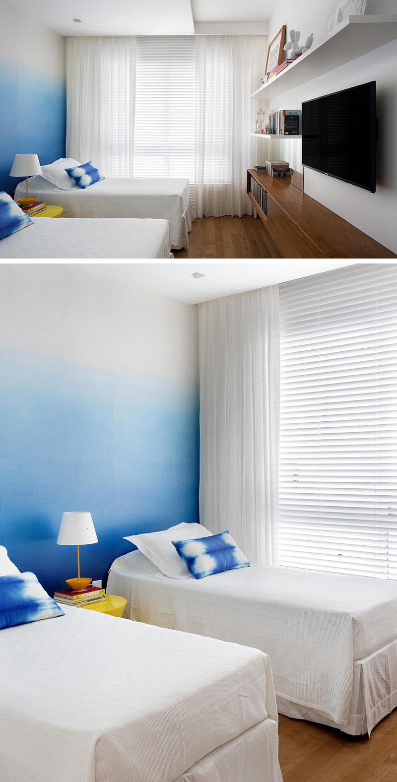 Wallpaper Accent Wall Bedroom Design Ideas - Create An Ombre Wall For A Colorful