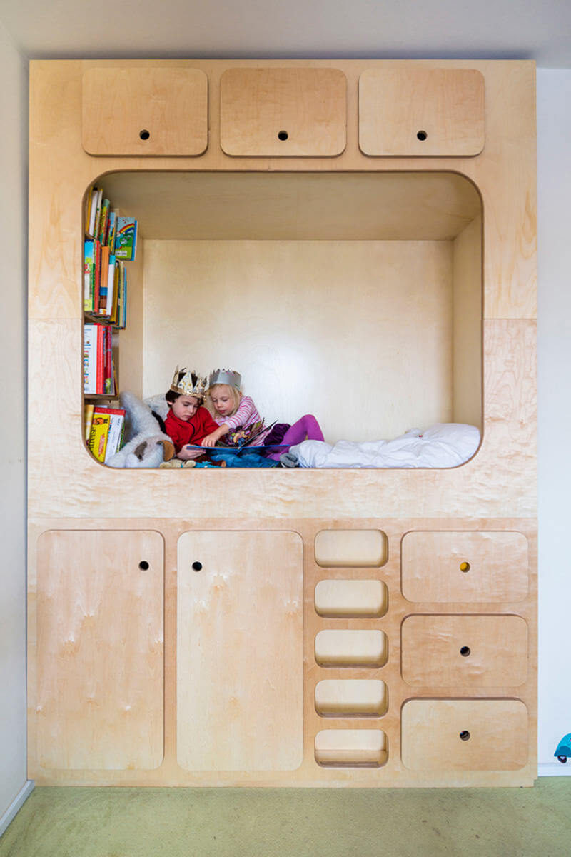 Built In Bed Nook Kids Bedroom Design Idea Include A Cubby Or Reading Nook For