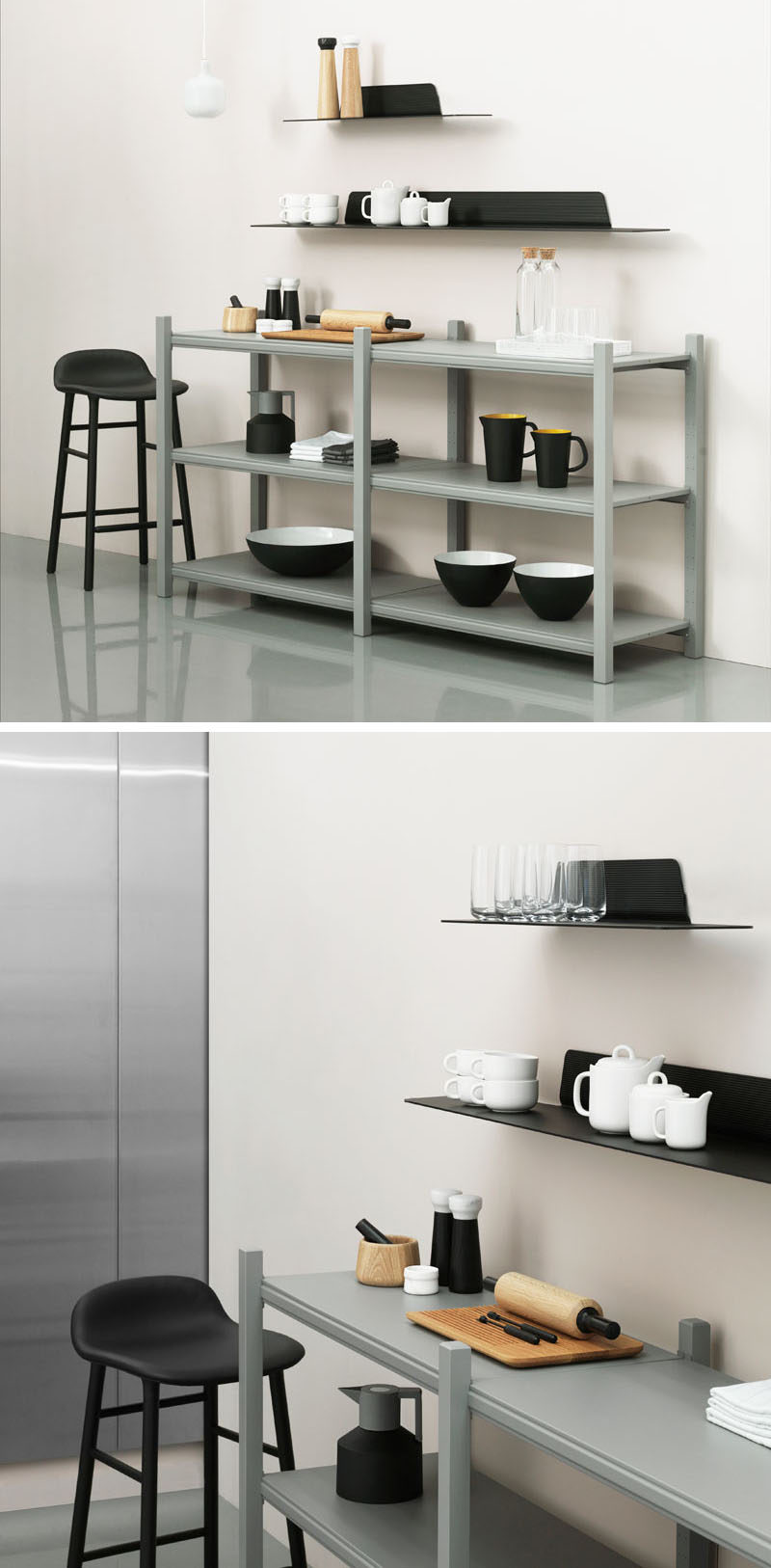 Wall Shelf Design Jet Is A Thin Modern Minimalist Shelf Contemporist