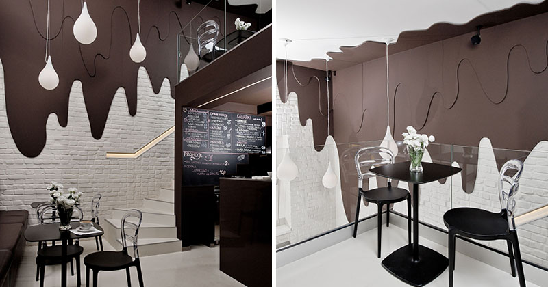 Design Warung Makan This Chocolate Shop And Cafe Has Walls Of Dripping