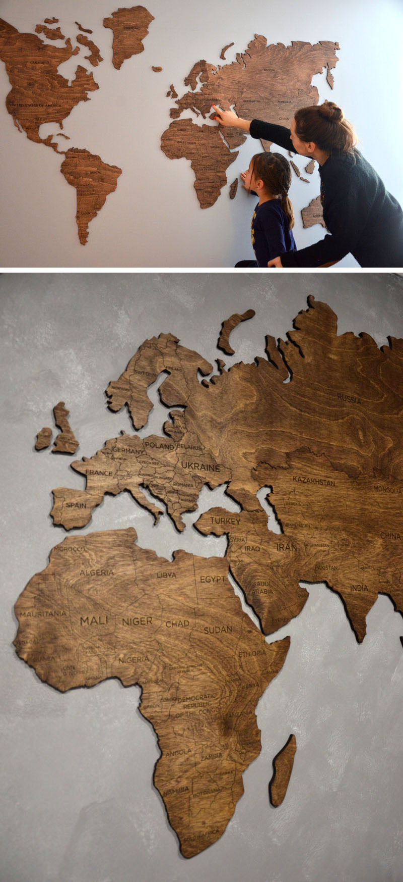 World Map Decorations 10 World Map Designs To Decorate A Plain Wall Contemporist