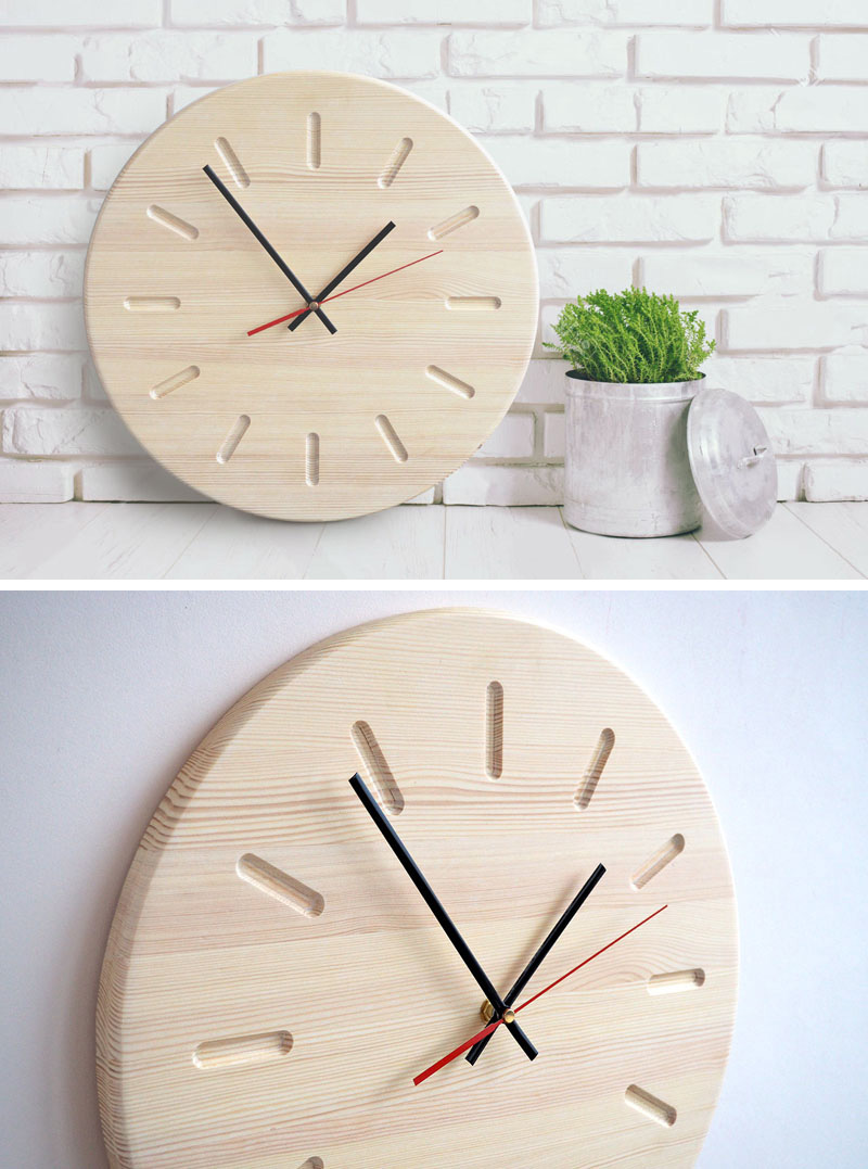 Wall Clock Design 14 Modern Wood Wall Clocks To Spruce Up Any Decor Contemporist