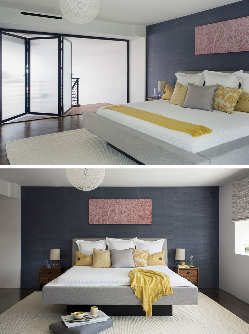 Accent Wall Ideas For Master Bedroom Modern Master Bedroom Dark Accent Wall Interiors 200617 1103 11