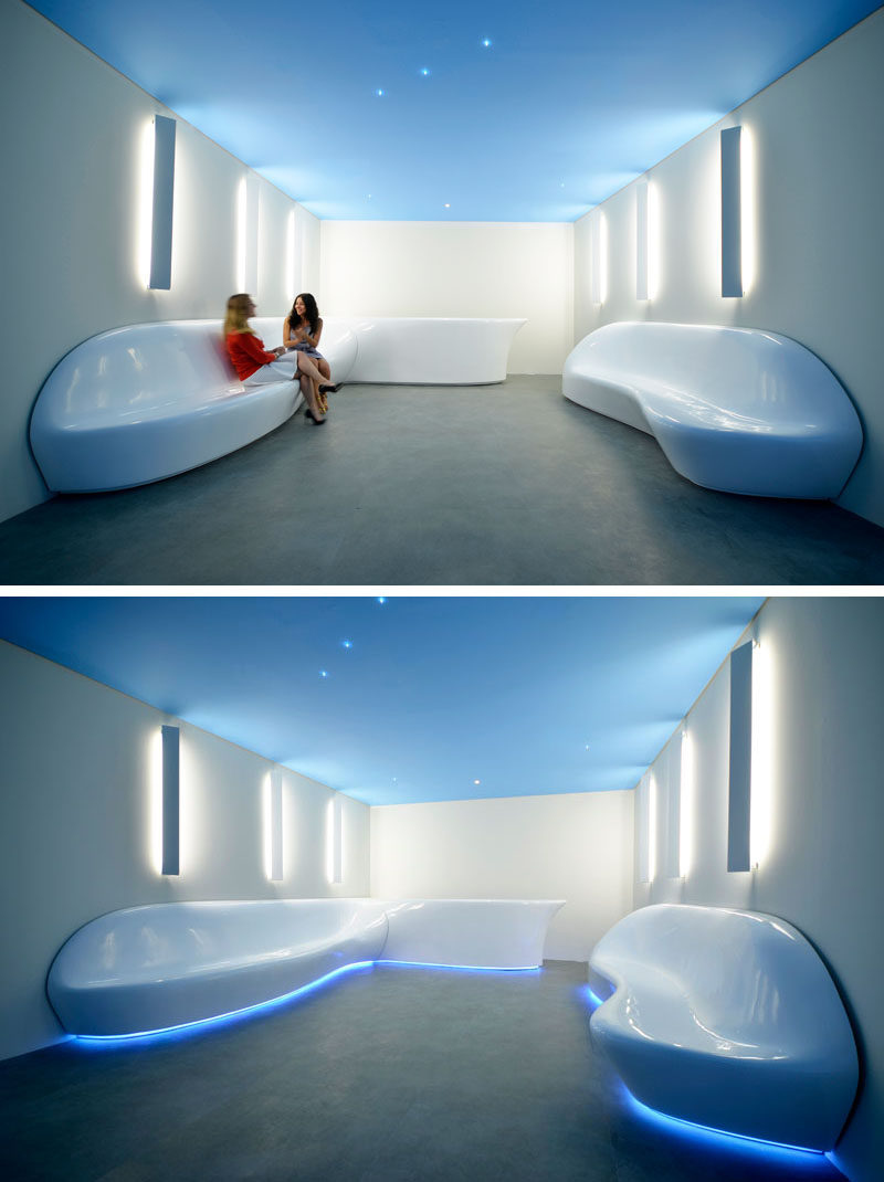Lounge Set Subdv Creates Sculptural Seating For An Office Reception Area