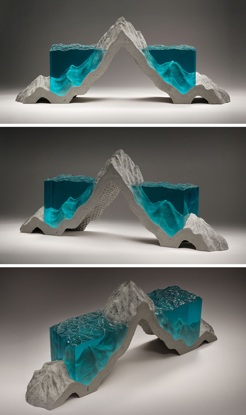 Ben Young Sculptures Glass And Concrete Sculptures By Self Taught Artist Ben Young