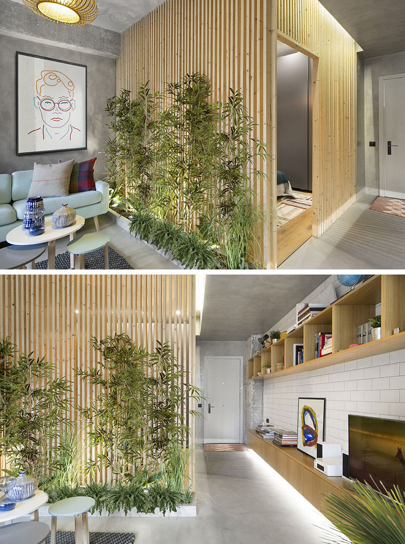 Slat Walls Design Detail Wood Slat Walls Create Privacy And Allow Light To