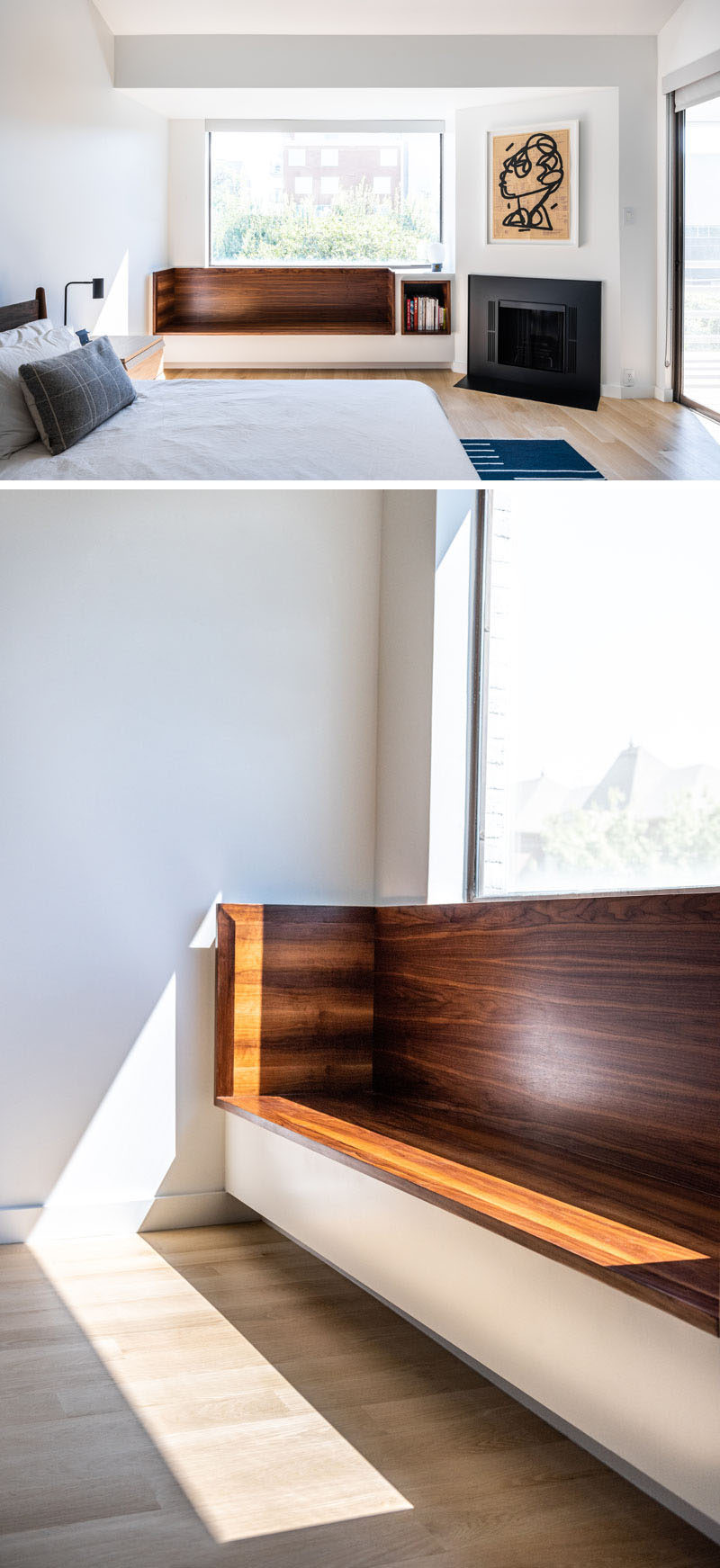 Window Seat Bookshelf Design Detail A Built In Window Seat With Shelving Was Added To