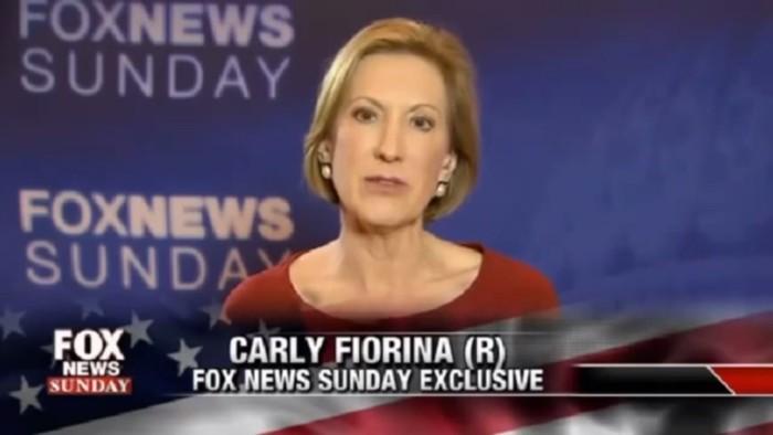carly fiorina fox news sunday