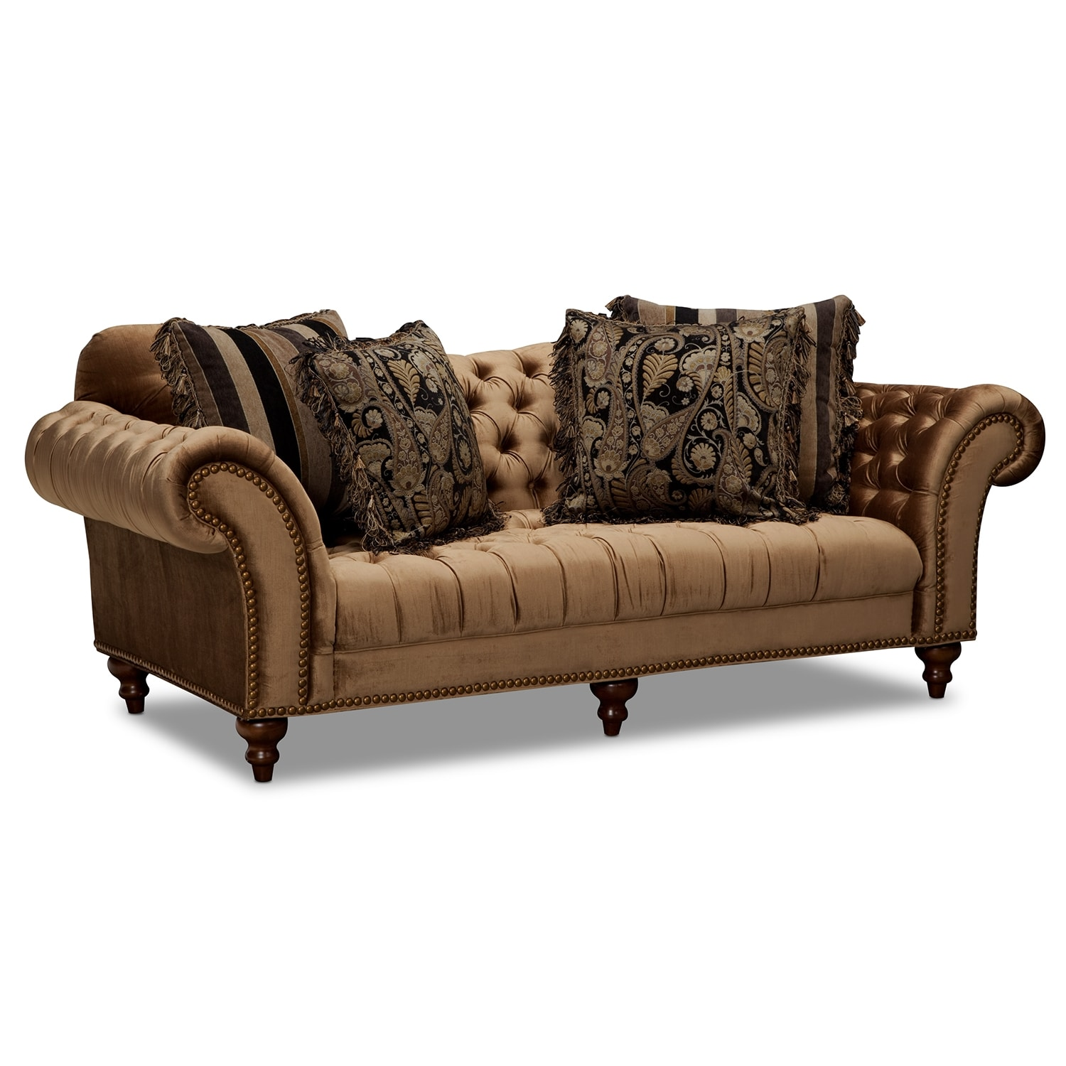 Futon Etage The Brittney Living Room Collection Bronze American Signature