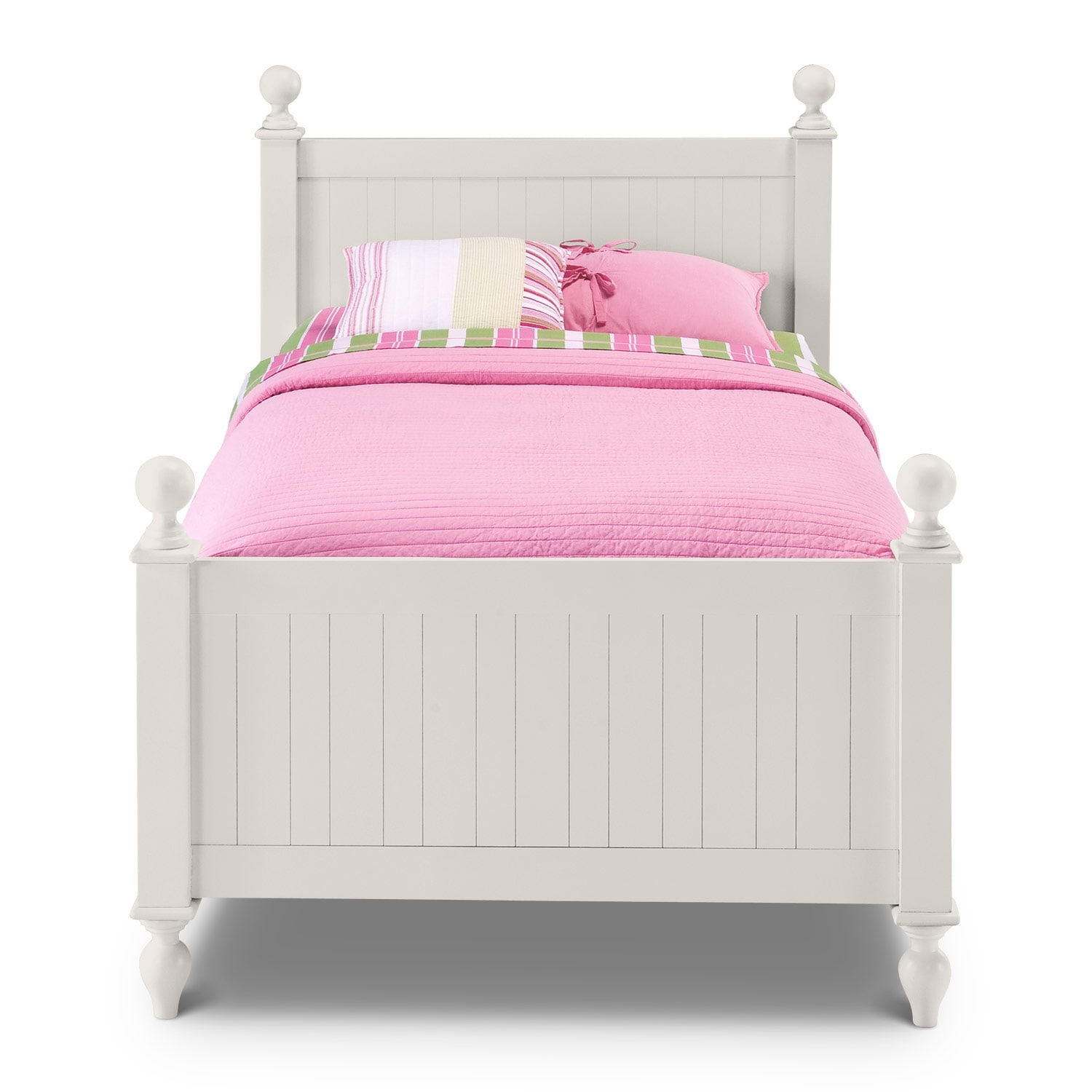 White Double Bed With Mattress Colorworks Twin Bed White American Signature Furniture