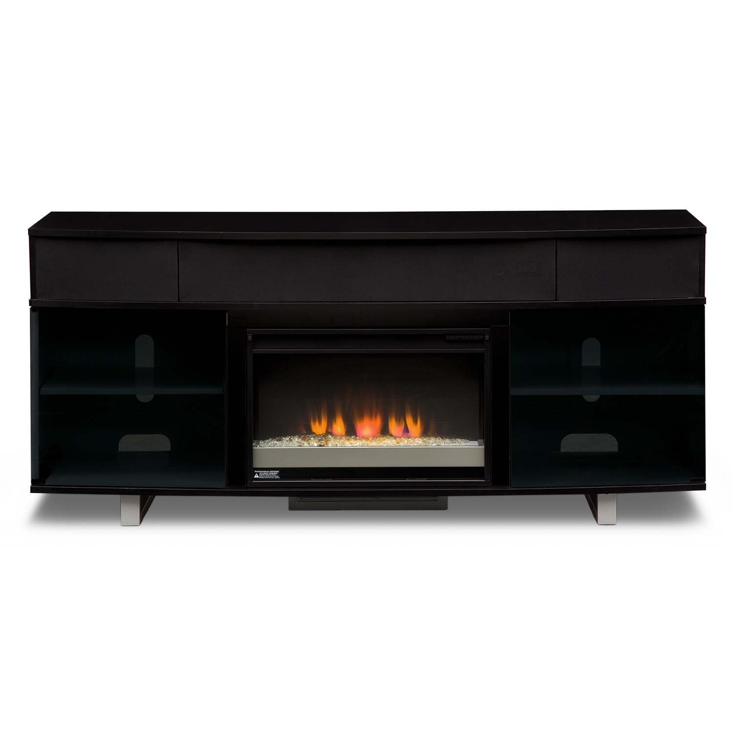 Fireplace Sounds Pacer Fireplace Tv Stand With Sound Bar