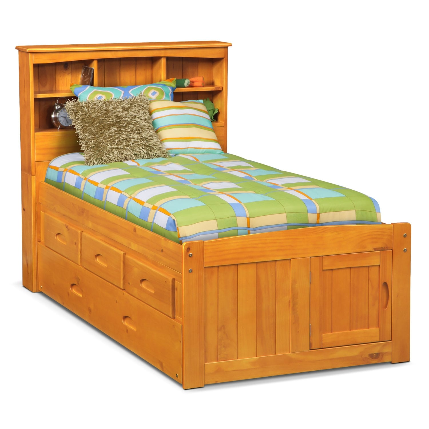 Bookcase Bed Ranger Bookcase Bed With 3 Underbed Drawers And Twin Trundle