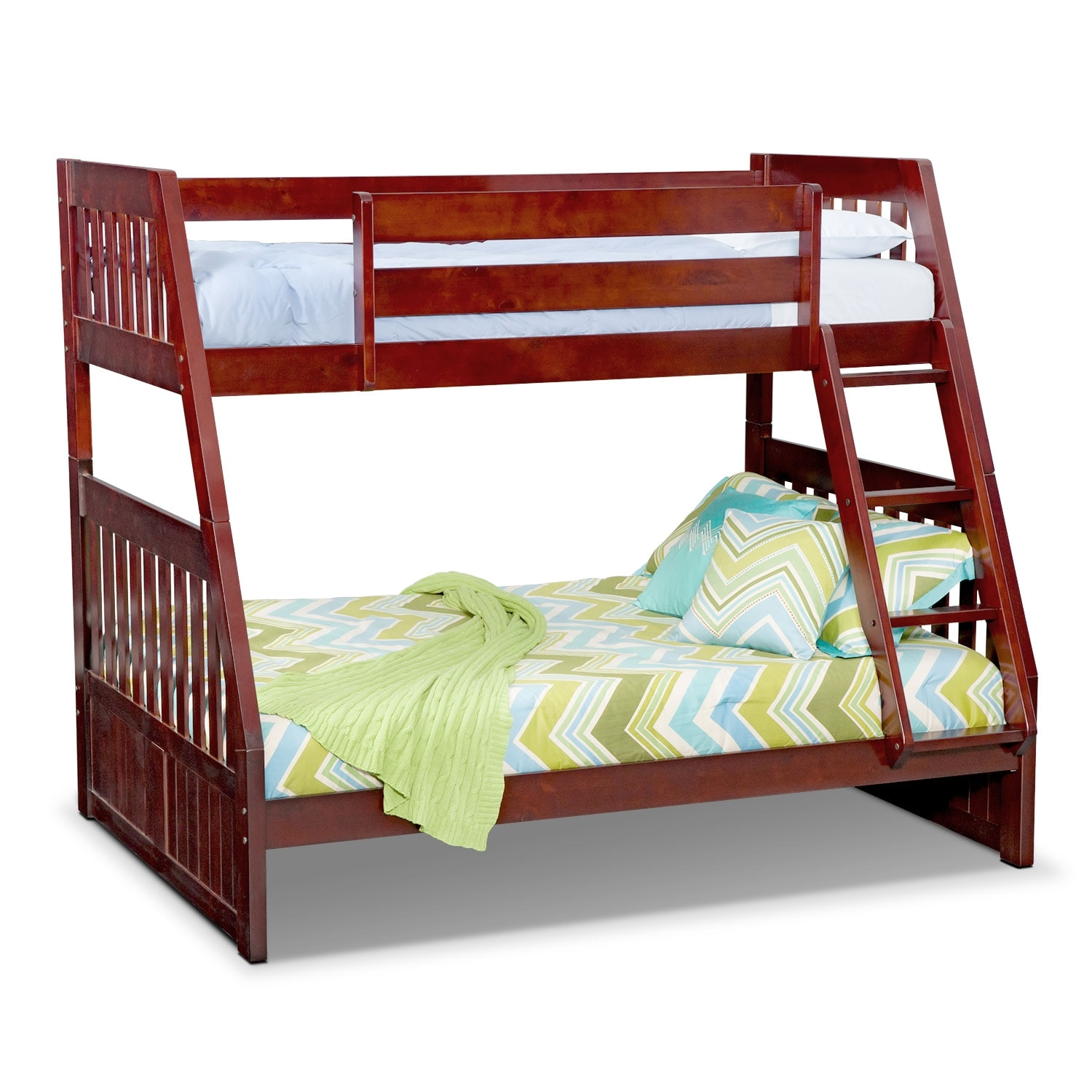 Double Bunks For Sale The Ranger Bunk Bed Collection Merlot American Signature Furniture
