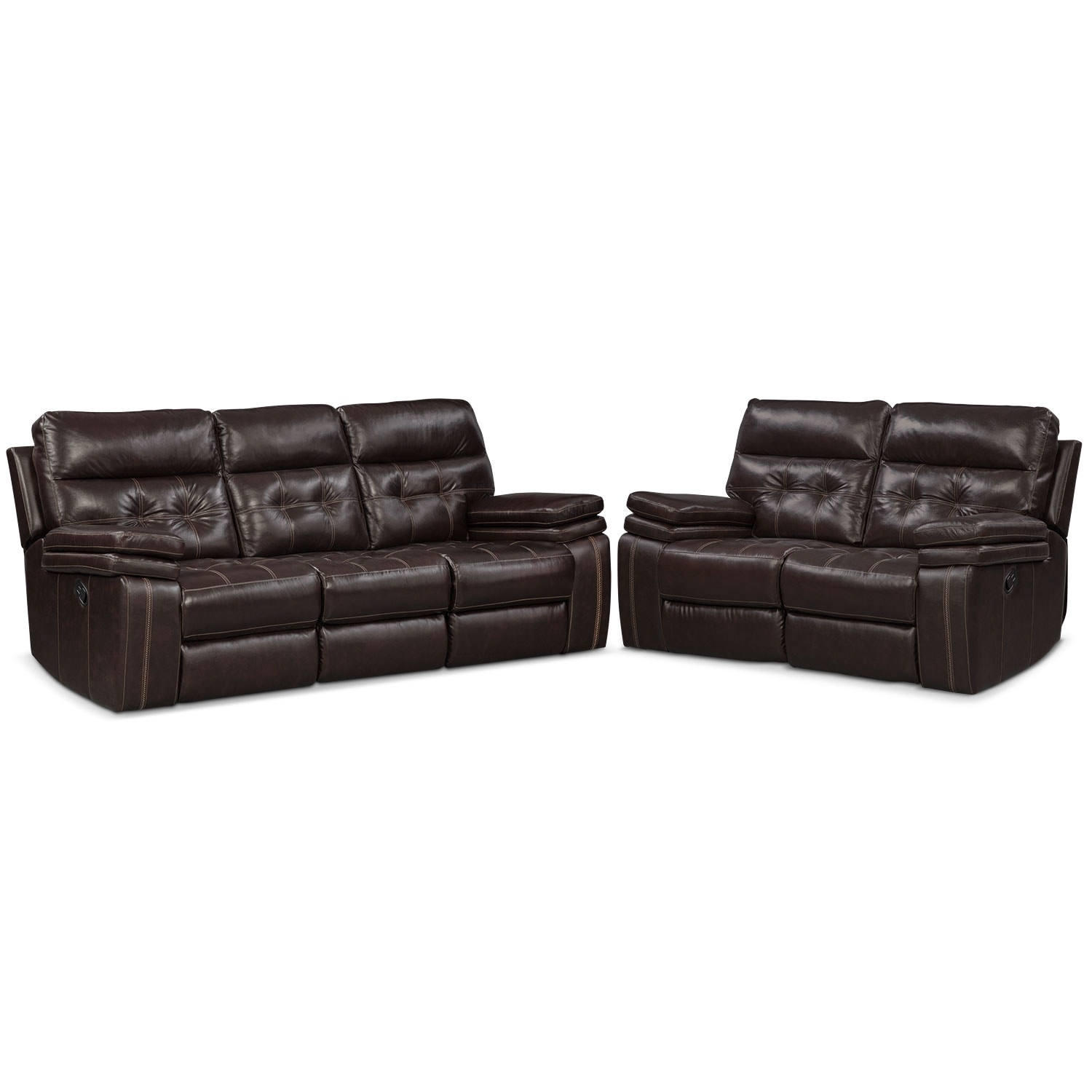 Brown Sofa And Loveseat Sets Brisco Manual Reclining Sofa And Loveseat Set