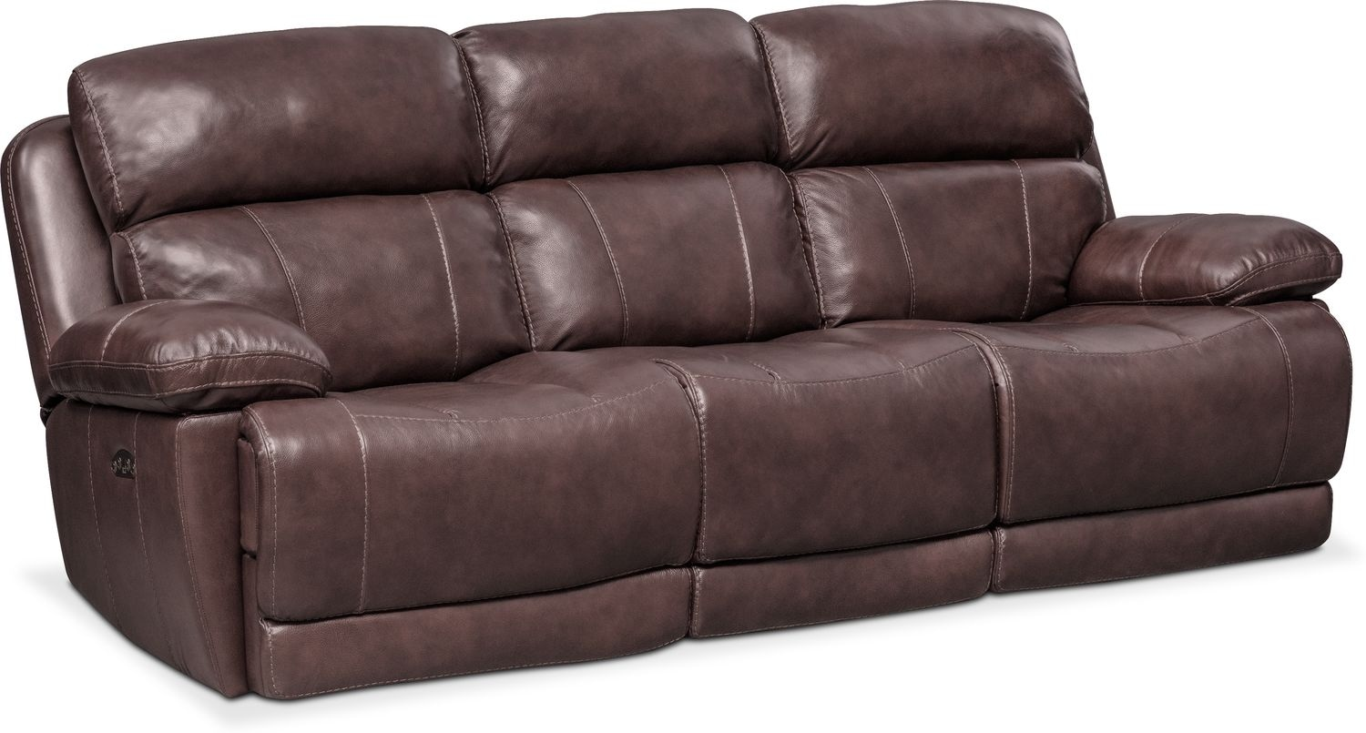 Sofa With Recliner Monte Carlo Dual Power Reclining Sofa