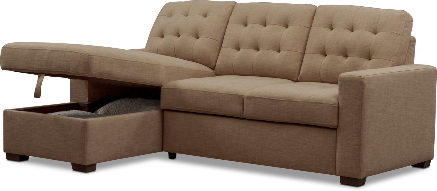 Sleeper Sofa Quick Delivery Chatman 2 Piece Sleeper Sectional With Chaise
