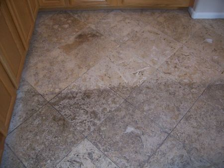 Natural Travertine Tile Cleaning