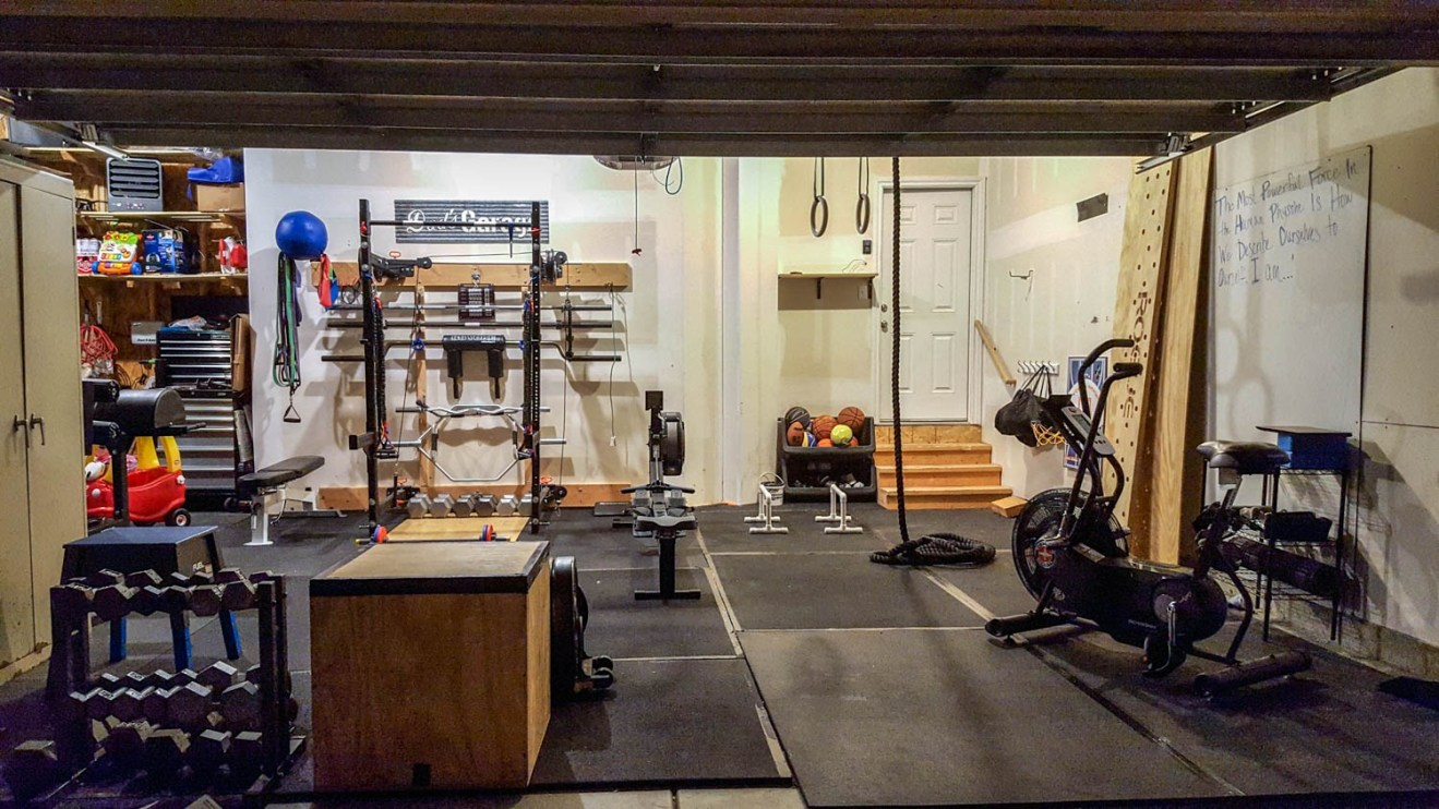 Garage Gym Reviews Diy Platform How To Build A Home Gym On The Cheap The Art Of Manliness