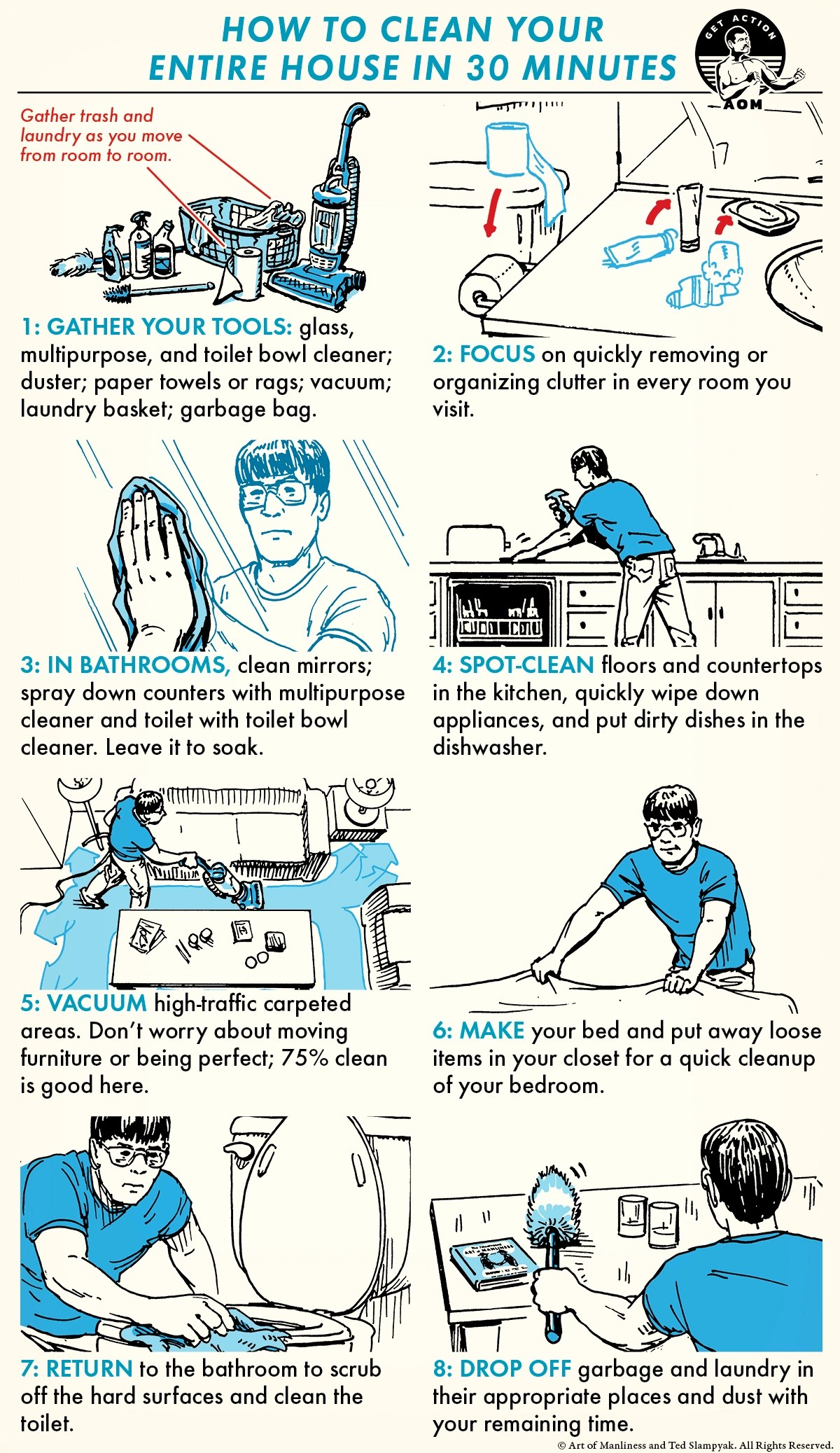 How To Clean Your Entire House In 30 Minutes The Art Of Manliness