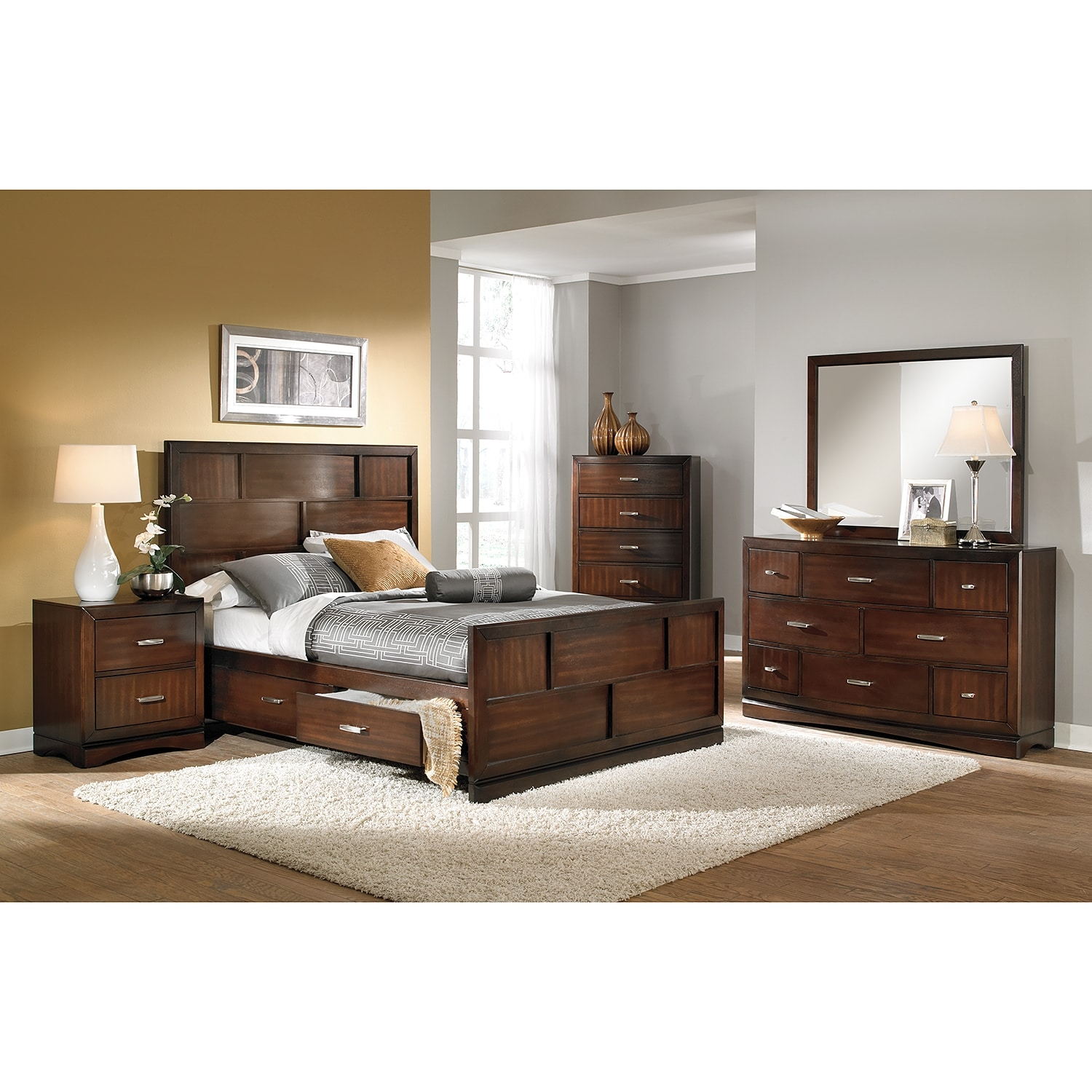 Good Furniture Stores Toronto Toronto Queen Storage Bed Pecan American Signature