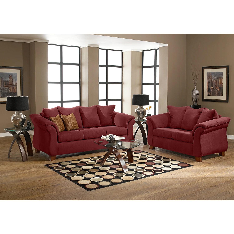 Red Sofa Pillows