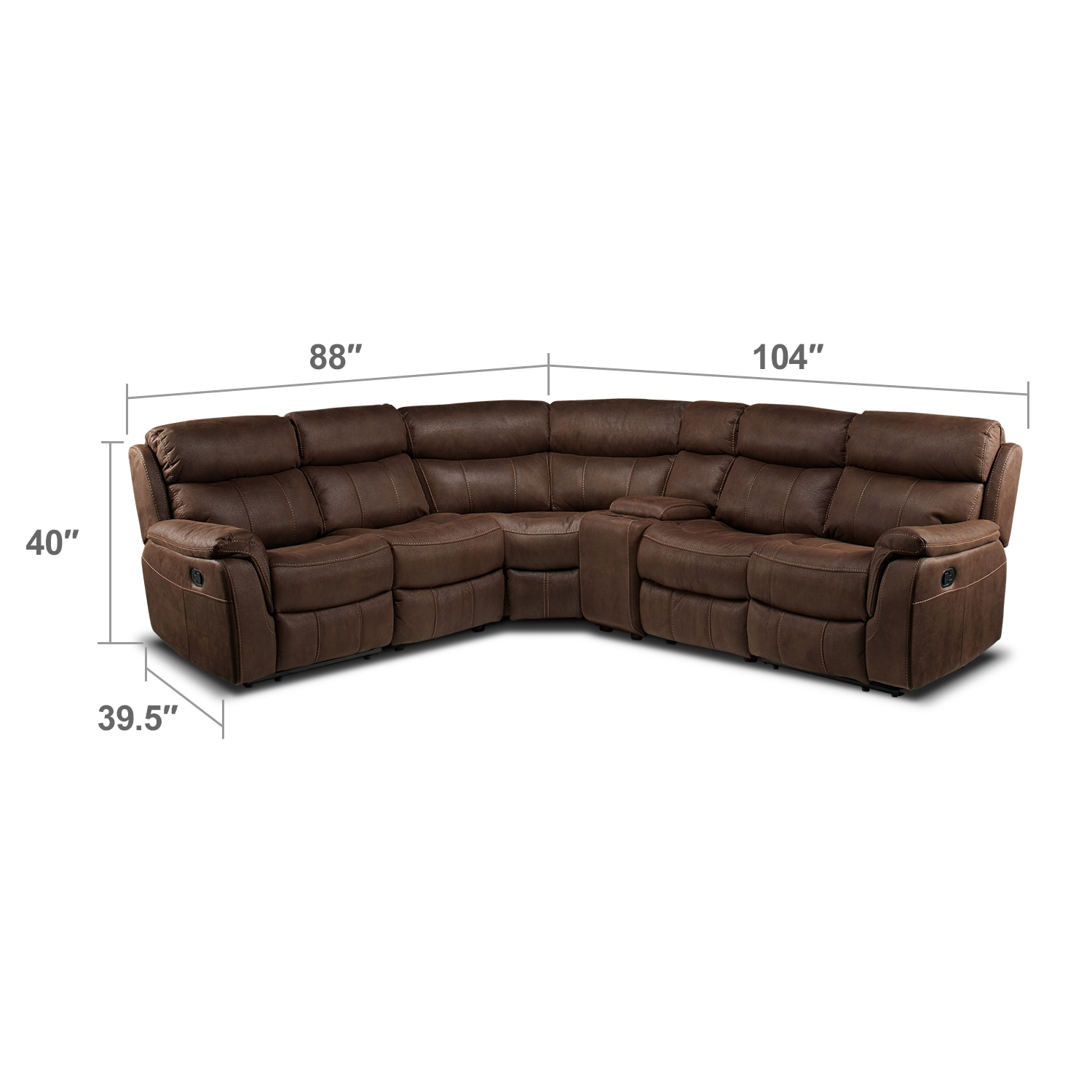 Brick Meubles Divan Lit Small Sectional Sofa Leon S Stellar