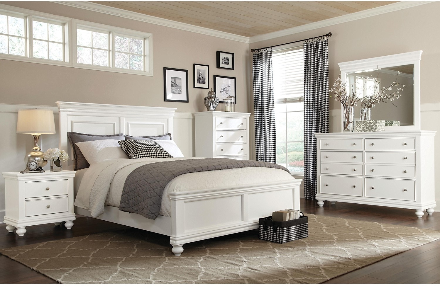 king bedroom set white hover to zoom