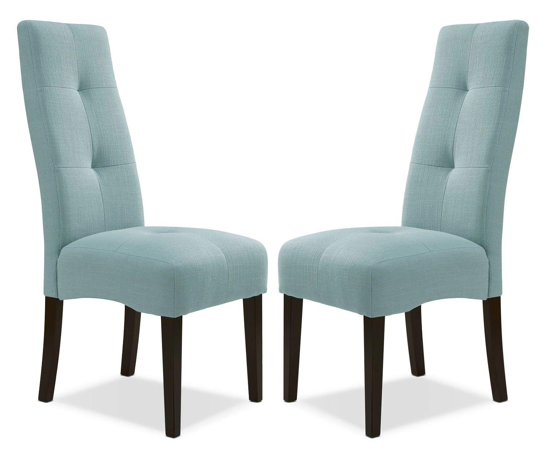 Sadie light blue dining chair set of the brick