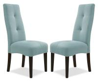 Dining Room Furniture - Sadie Light Blue Dining Chair ...