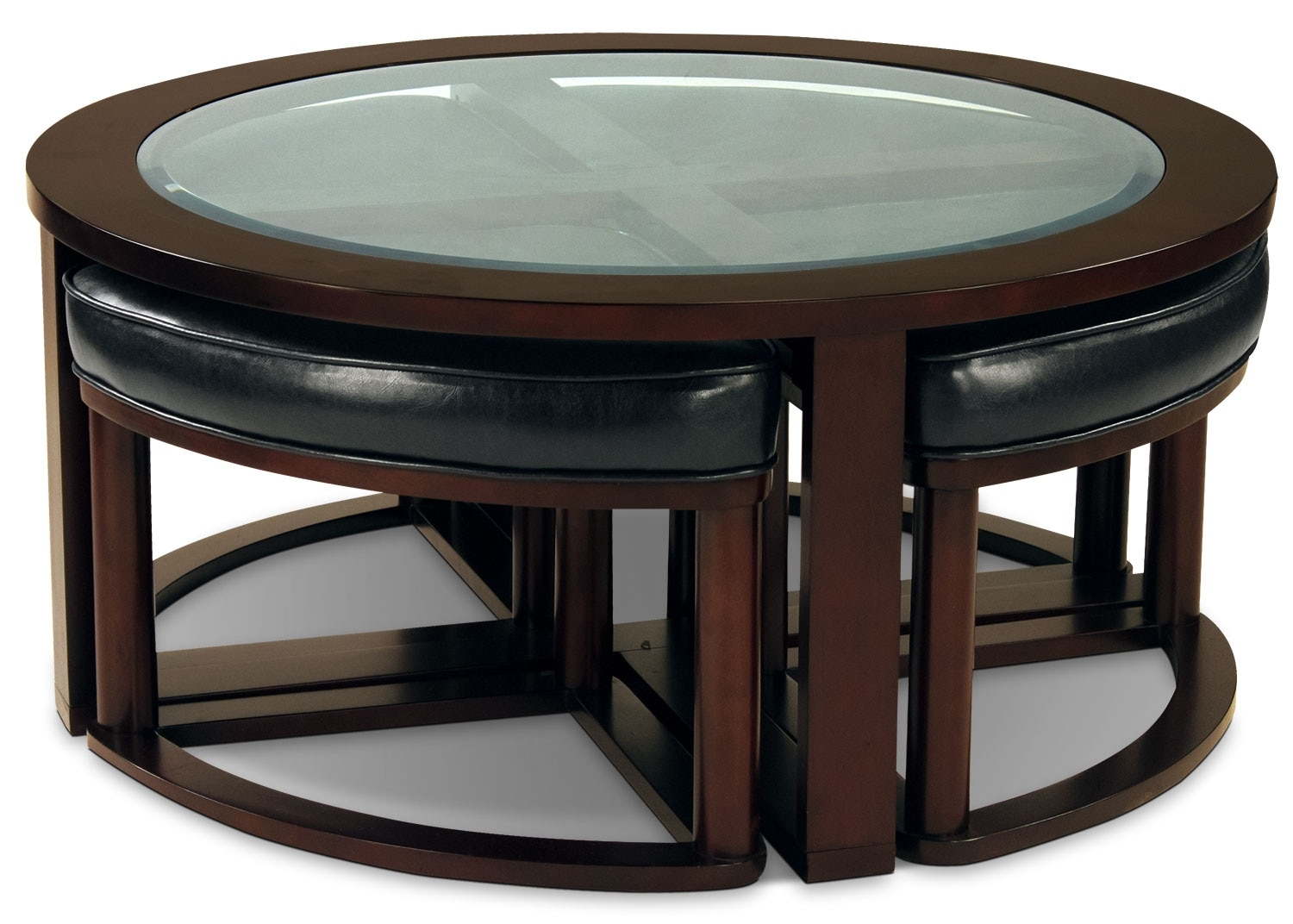 Center Tables With Storage Sierra Coffee Table With Four Ottoman Wedge Stools The Brick