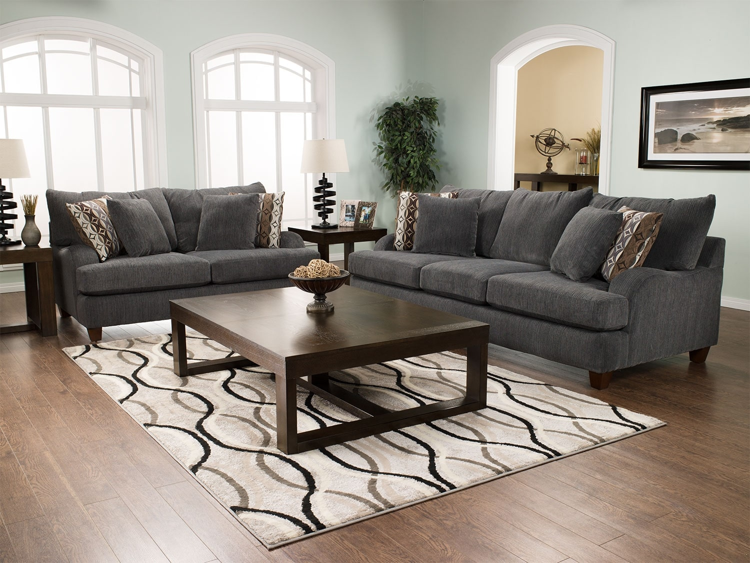 Living Room Furniture Canada Putty Chenille Sofa Grey The Brick