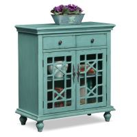 Grenoble Accent Cabinet - Teal | American Signature Furniture