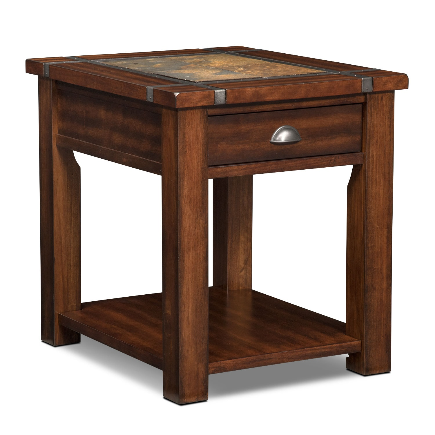 Living Room Side Tables For Sale Slate Ridge End Table Cherry Value City Furniture