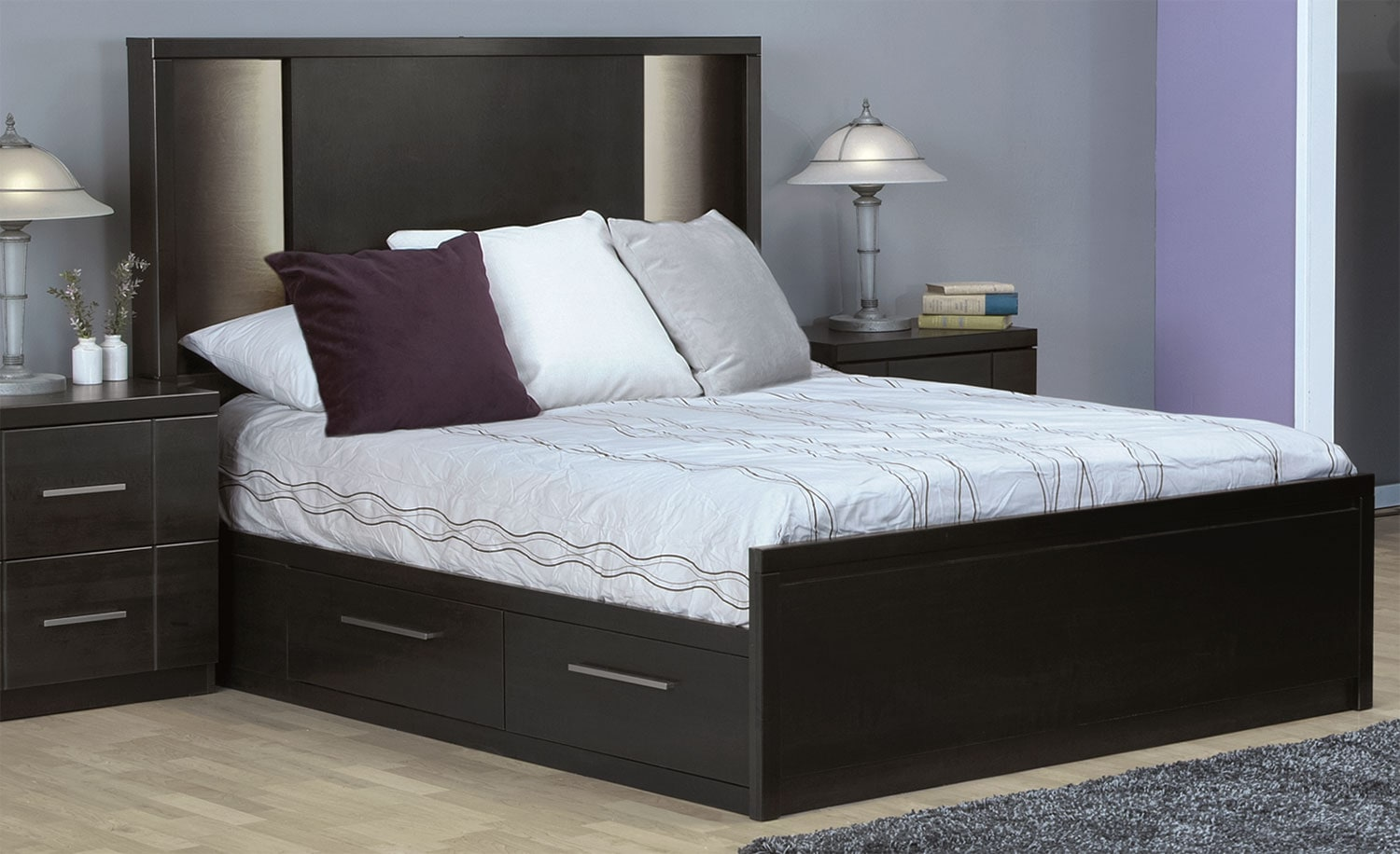 King Bed With Storage Canada Seville King Storage Bed Charcoal Leon 39s