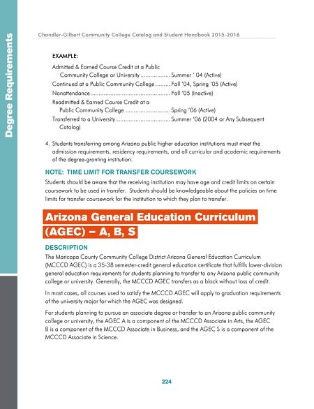 Chandler-Gilbert Community College - 2015-2016 CGCC Catalog and - college degree planner