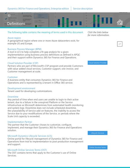 Factsheets - Microsoft Dynamics 365 for Finance and Operations